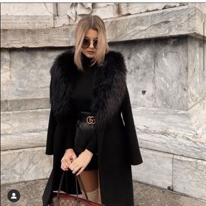 Coat with Faux Fur  Size S NWT